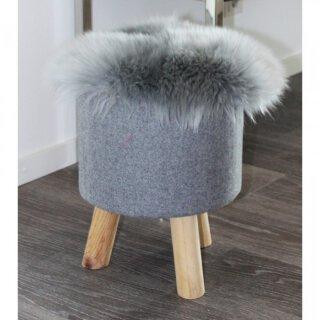 Lammfell Sitzkissen rund 45 cm verschiedene Farben