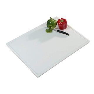 Tranchierbrett, weiß, PE-Kunststoff, 61x45x1,2 cm