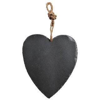 Großes Herz aus Schiefer