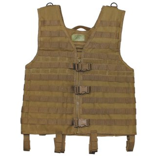 Weste, Molle light, coyote tan, Modular System