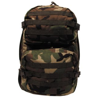 US Rucksack, Assault II, woodland