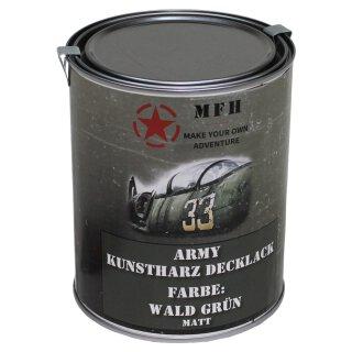 "Farbdose, ""Army"" WALD GRÜN, matt, 1 Liter"