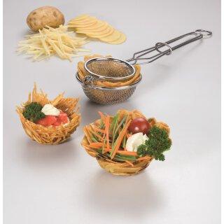 Nestbacklöffel für Kartoffelnester aus Edelstahl