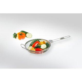 Grillkorb mit einklappbarem Griff / Edelstahl