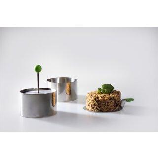 Speiseringe-Set, 7 cm, 4-teilig, mit Stempel und Servierplatte